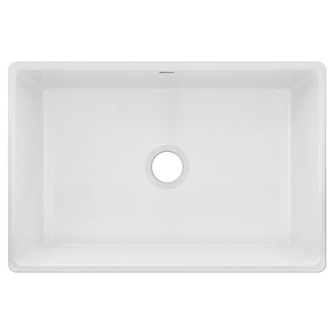 "Elkay 30"" Fireclay Farmhouse Kitchen Sink, White, SWUF28179WH"