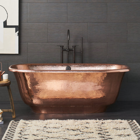 "Native Trails 66"" Copper Santorini Bathtub, Polished Copper, CPS944"