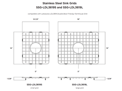 Artisan ACDMGRID3303 Sink gridgrid for sinksink Accessories Bottom Grid For The Large Bowl Acdm3303