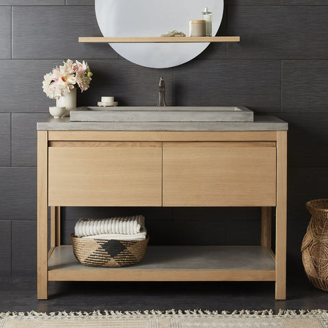 "Native Trails 48"" Solace Vanity in Sunrise Oak with Ash Shelf, VNO481-A"