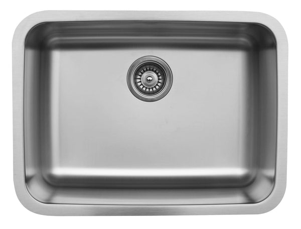 "Karran 24"" Undermount Stainless Steel Kitchen Sink, 18 Gauge, U-2418"