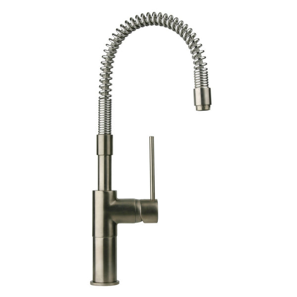Latoscana Elba Single Handle Kitchen Faucet with Spring Spout, Stream Only, Brushed Nickel, 78PW558 - The Sink Boutique