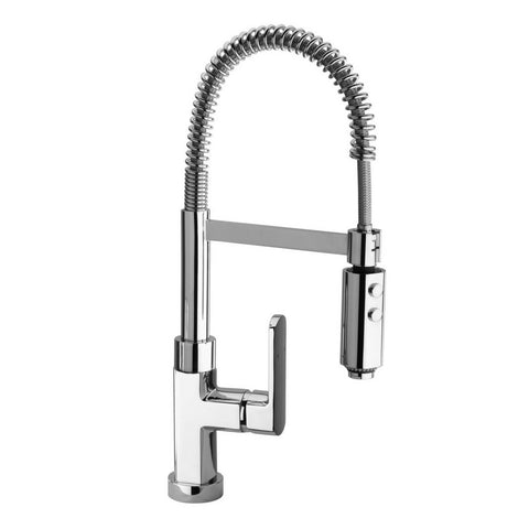 Latoscana Novello Single Handle Kitchen Faucet with Spring Spout, Chrome, 86CR557 - The Sink Boutique