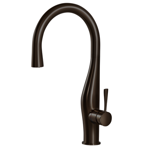 Houzer Vision Hidden Pull Down Kitchen Faucet Rubbed Bronze, VISPD-869-OB