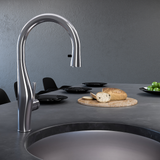Houzer Vision Hidden Pull Down Kitchen Faucet Rubbed Bronze, VISPD-869-OB - The Sink Boutique