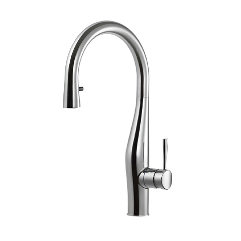 Houzer Vision Hidden Pull Down Kitchen Faucet with CeraDox Technology Polished Chrome, VISPD-869-PC