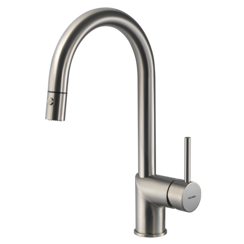 Houzer Vitale Pull Down Kitchen Faucet Brushed Nickel, VITPD-668-BN