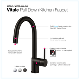 Houzer Vitale Pull Down Kitchen Faucet Oil Rubbed Bronze, VITPD-668-OB - The Sink Boutique