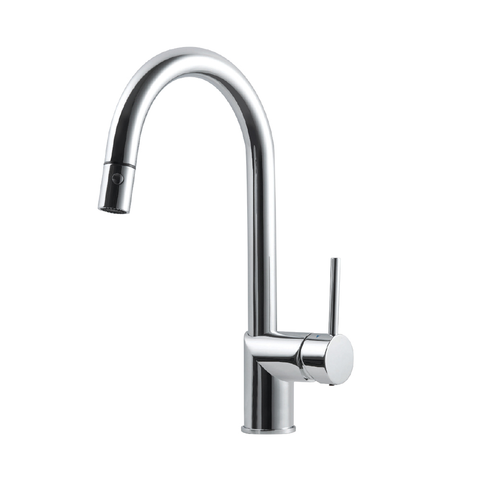 Houzer Vitale Pull Down Kitchen Faucet with CeraDox Technology Polished Chrome, VITPD-668-PC