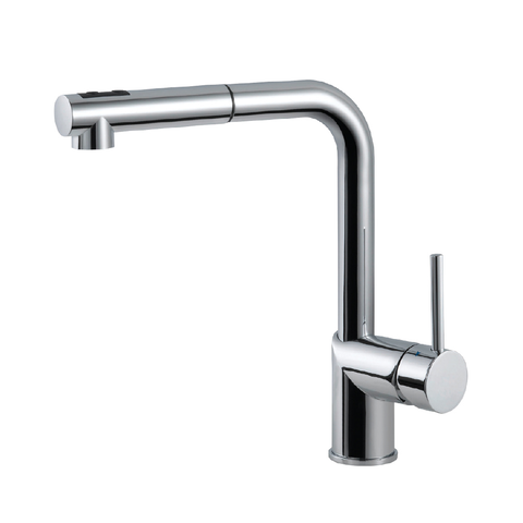 Houzer Vitale Pull Out Kitchen Faucet with CeraDox Technology Polished Chrome, VITPO-664-PC