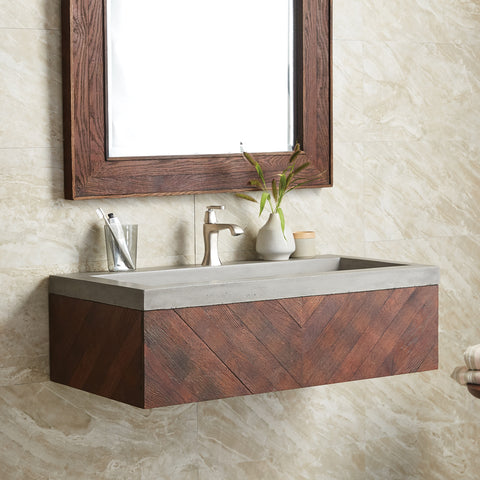 Native Trails Cabernet Floating Vanity, VNW194