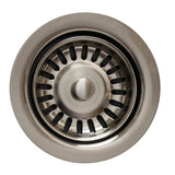 "Whitehaus 3 1/2"" Waste Disposer Trim with Basket Strainer, WH200 - The Sink Boutique"