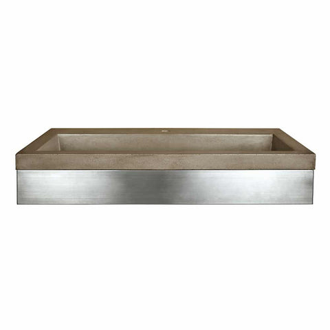 "Native Trails 36"" Zaca Vanity Base with NativeStone Trough in Earth, VNS36S-NSL3619-E"