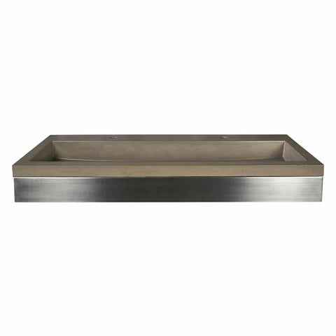 "Native Trails 48"" Zaca Vanity Base with NativeStone Trough in Earth, VNS48S-NSL4819-E"