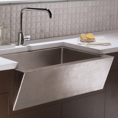 "Native Trails Zuma 33"" Nickel Farmhouse Sink, Brushed Nickel, CPK590"