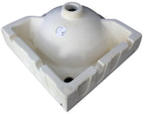 "ALFI White 15"" Round Corner Wall Mounted Porcelain Bathroom Sink, AB104 - The Sink Boutique"