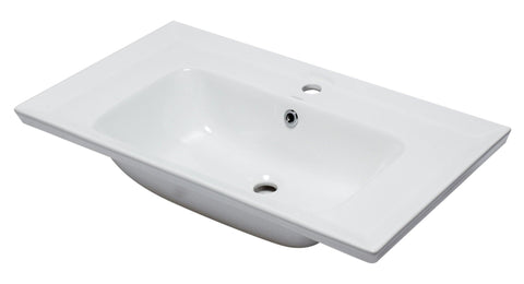 "Eago 19"" Porcelain Bathroom Sink, White, BH003"