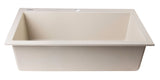 "ALFI Biscuit 30"" Drop-In Single Bowl Granite Composite Kitchen Sink, AB3020DI-B - The Sink Boutique"