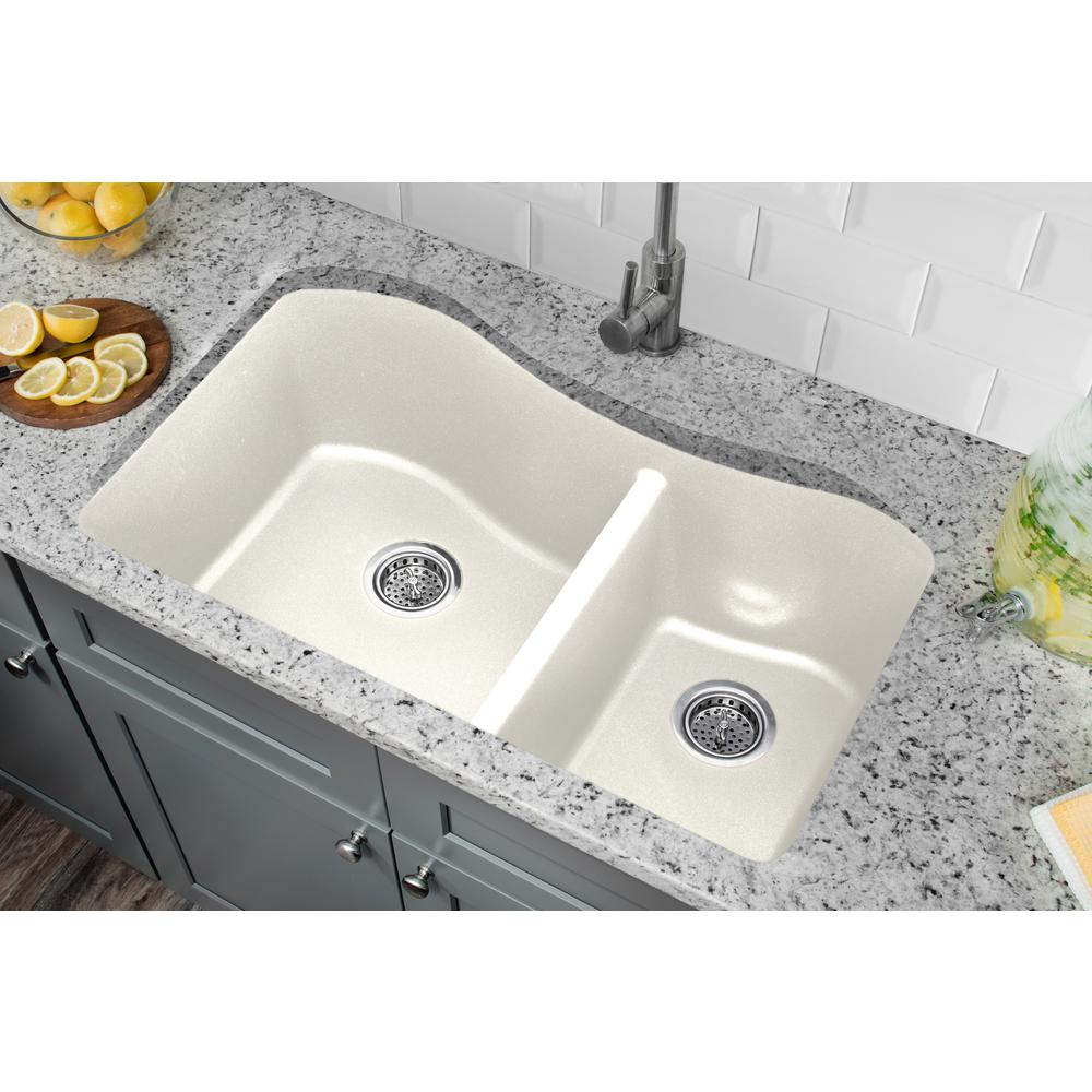 Cahaba 33  Quartz Double Bowl Undermount Kitchen Sink Alpine - The Sink Boutique  sc 1 st  The Sink Boutique & 33