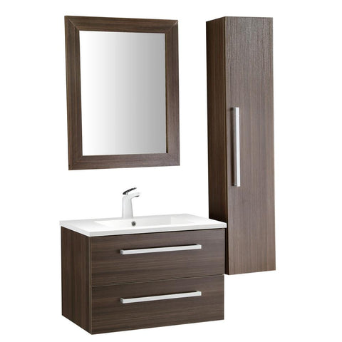 "Conques 30"" Bathroom Vanity with White Ceramic Top - The Sink Boutique"