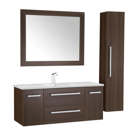 "Conques 48"" Bathroom Vanity with White Ceramic Top - The Sink Boutique"