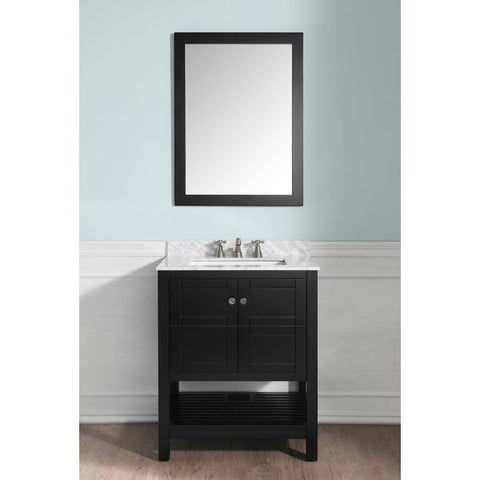 "Montaigne 30"" Bathroom Vanity with Carrara White Marble Top - The Sink Boutique"