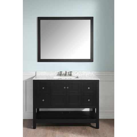 "Montaigne 48"" Bathroom Vanity with Carrara White Marble Top - The Sink Boutique"