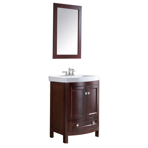 "Montresor 24"" Bathroom Vanity with White Ceramic Vanity Top - The Sink Boutique"