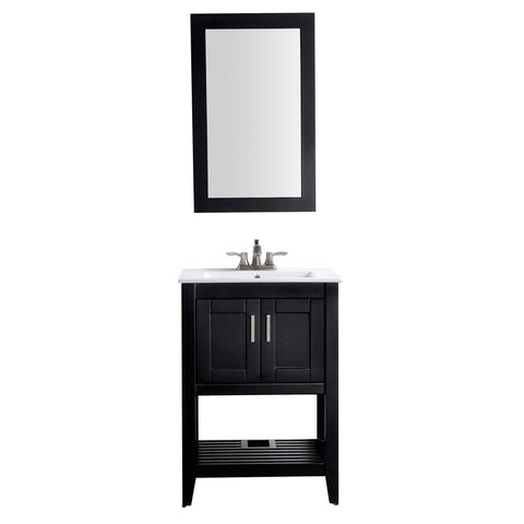 "Mosset 24"" Bathroom Vanity with White Ceramic Top - The Sink Boutique"