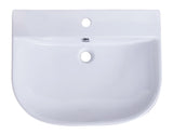 "ALFI 24"" White D-Bowl Porcelain Wall Mounted Bath Sink, AB111 - The Sink Boutique"