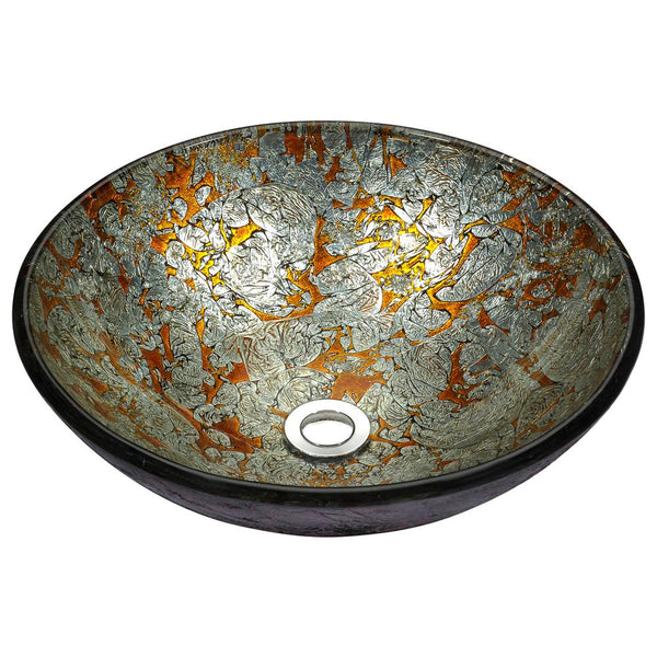 "16"" Stellar Series Deco-Glass Vessel Sink in Arctic Blaze, LS-AZ163 - The Sink Boutique"