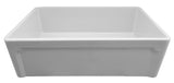 ALFI brand AB3020SB-W 30 inch White Reversible Single Fireclay Farmhouse Kitchen Sink Angled Front Design
