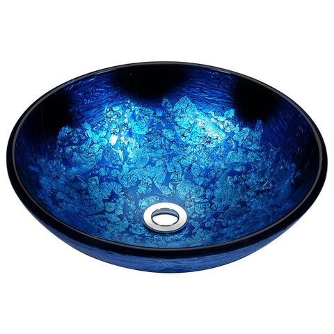 "16"" Stellar Series Deco-Glass Vessel Sink in Blue Blaze, LS-AZ161 - The Sink Boutique"