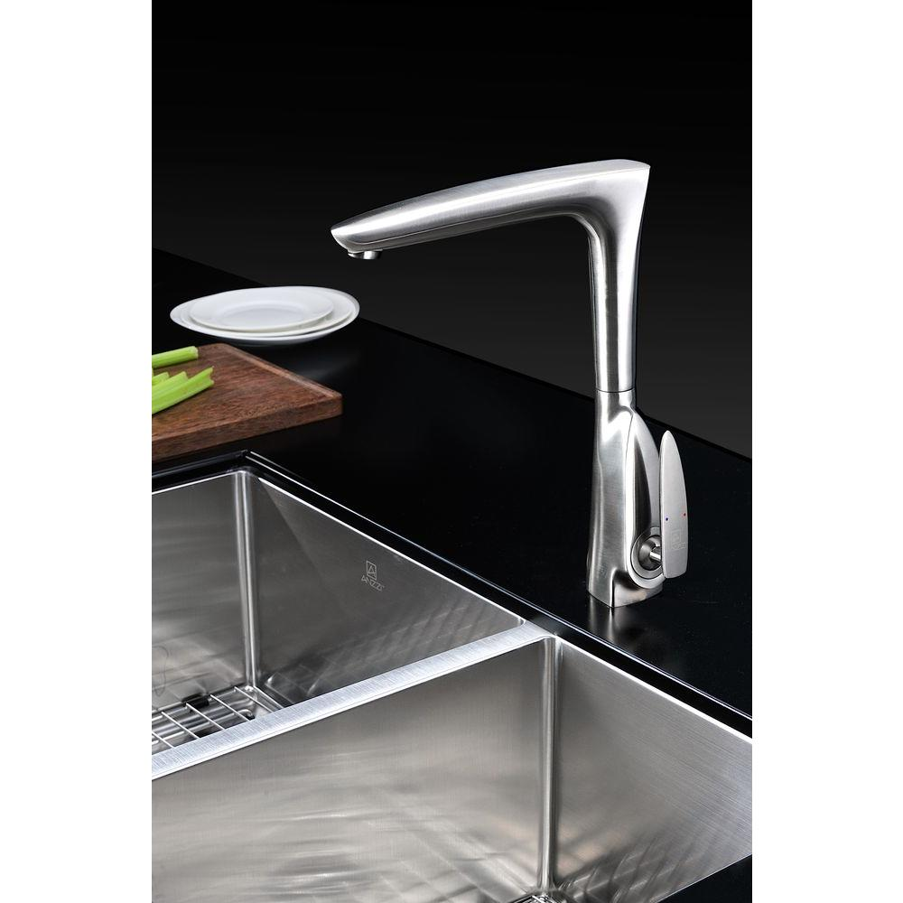 Timbre Single-Handle Kitchen Faucet in Brushed Nickel KF-AZ034BN ...