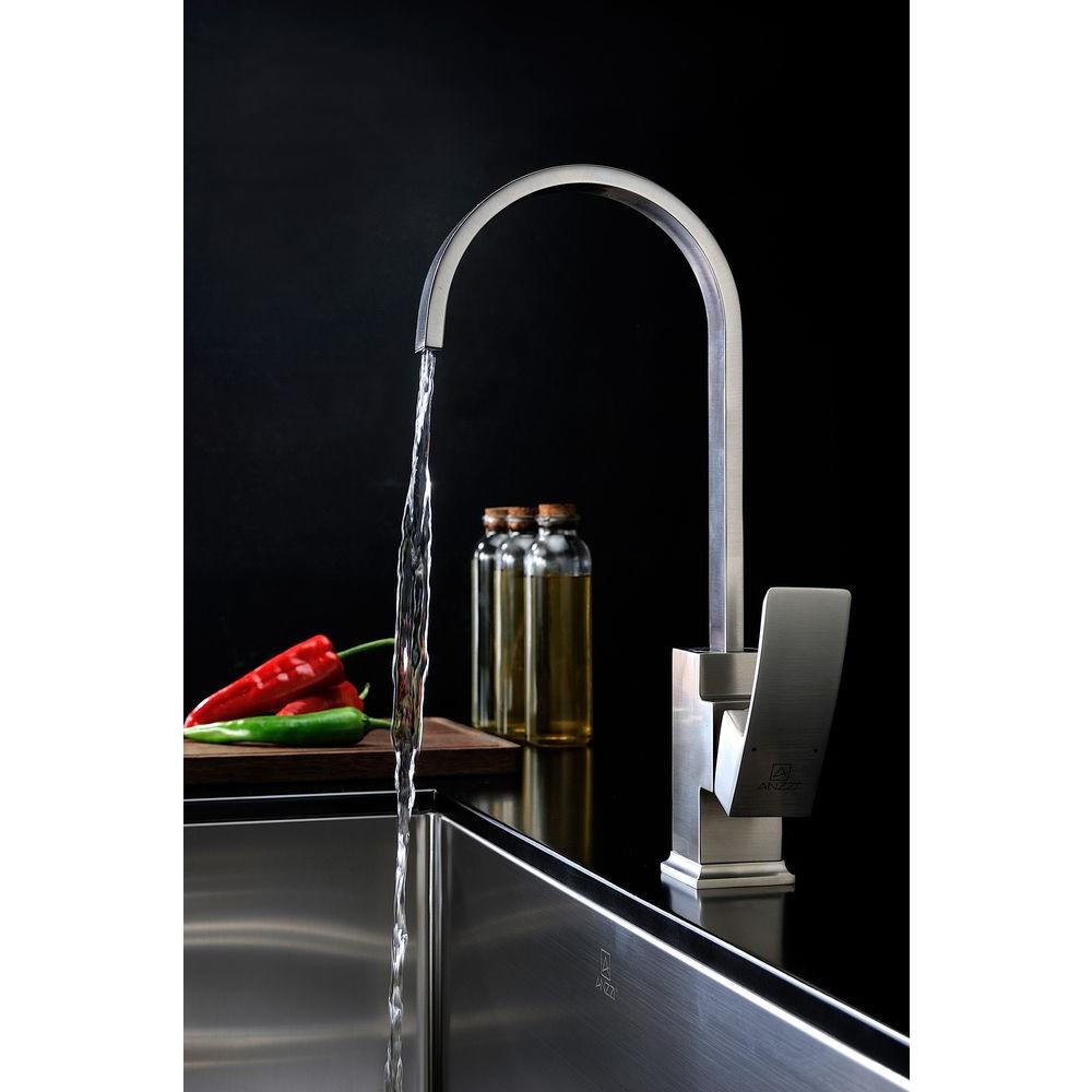 Opus Single-Handle Kitchen Faucet in Brushed Nickel KF-AZ035BN – The ...