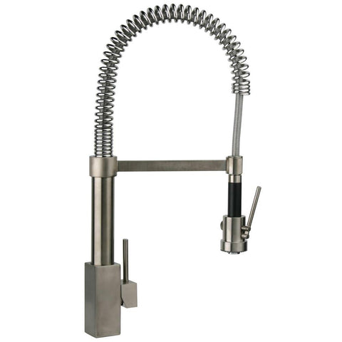 Latoscana Dax Single Handle Kitchen Faucet with Spring Spout, Brushed Nickel, 84PW557 - The Sink Boutique