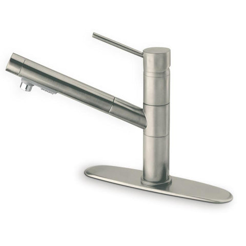 Latoscana Elba Single Handle Pull Out Spray Kitchen Faucet, Brushed Nickel, 78PW568 - The Sink Boutique