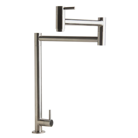 ALFI Brushed Stainless Steel Retractable Pot Filler Faucet, AB5018-BSS - The Sink Boutique