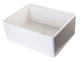 "ALFI brand AB505-B Biscuit 26"" Contemporary Smooth Apron Fireclay Farmhouse Kitchen Sink"
