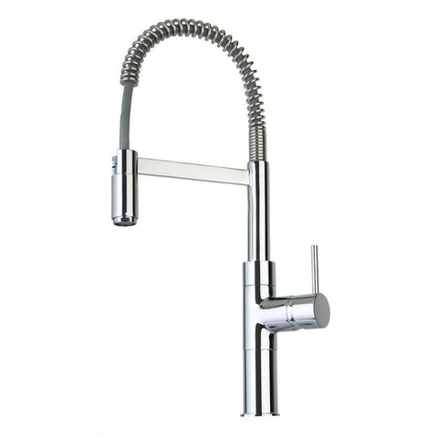 Latoscana Elba Single Handle Kitchen Faucet with Spring Spout, Chrome, 78CR556 - The Sink Boutique