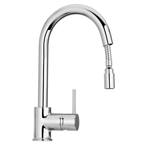 Latoscana Elba Single Handle Pull Down Kitchen Faucet, Stream Only, Chrome, 78CR591 - The Sink Boutique