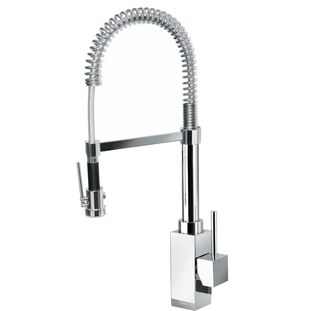 28d30f3432 Latoscana Dax Single Handle Kitchen Faucet with Spring Spout, Chrome,  84CR557 - The Sink
