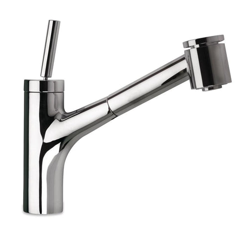 Latoscana Elba Single Handle Pull Out Kitchen Faucet Dual Function Sprayer, Chrome, 78CR576 - The Sink Boutique