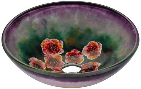 "ANZZI 16"" Impasto Series Vessel Sink in Hand Painted Mural, LS-AZ220"