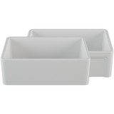 "Crestwood 30"" White Farmhouse Sink, Casement/Smooth Front, CW-8130-W"