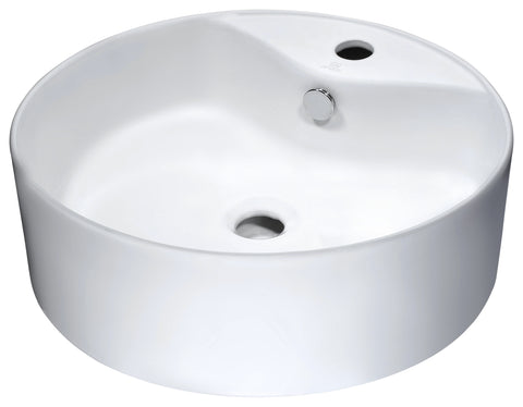 "18"" Vitruvius Series Ceramic Vessel Sink in White, LS-AZ129 - The Sink Boutique"