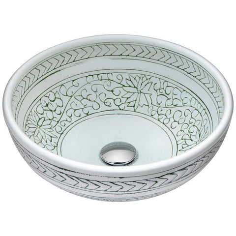 "16"" Cadence Series Vessel Sink in White, LS-AZ185 - The Sink Boutique"