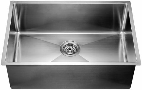 "Dawn 27"" Stainless Steel Undermount Kitchen Sink, XSR251610"