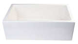 "ALFI brand AB3018SB-B  30"" Biscuit Smooth Apron Thick Wall Fireclay Single Bowl Farmhouse Sink Angled"