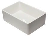ALFI brand AB3020SB-W 30 inch White Reversible Single Fireclay Farmhouse Kitchen Sink